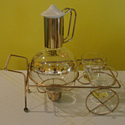 Coffee to Go - Coffee carafe w/Creamer and Sugar on Wire Cart