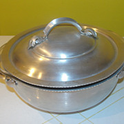 Hammered Aluminum Covered Casserole with Pyrex dish