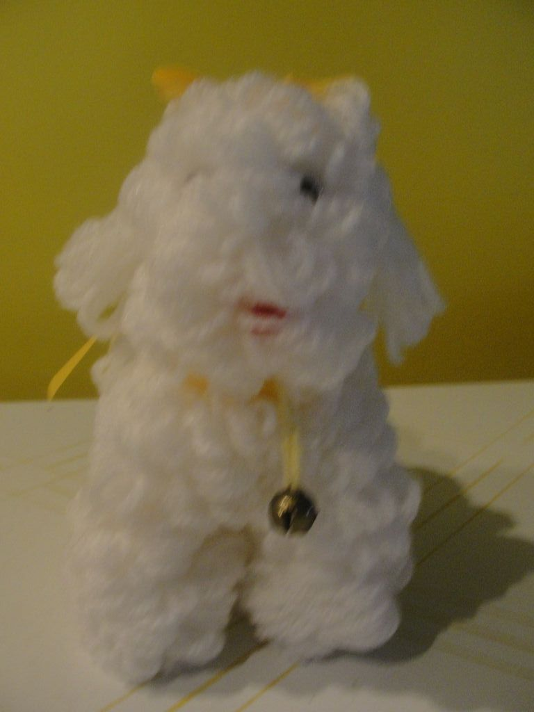 Poodle Pup Yarn Dog B119 From Hodgepodgelodge On Ruby Lane