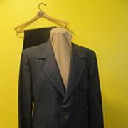 Zig Zag Navy Jacket with Pants