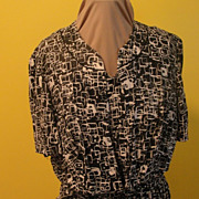 Carolyn North Black and White Dress and Jacket