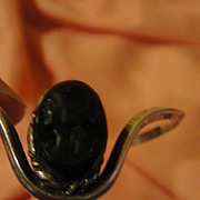 Wrap Around Black Cameo Bracelet - Free shipping