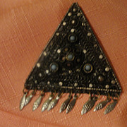 Equilateral Silver Triangle Pendant with Dangles Made in Israel - Free shipping