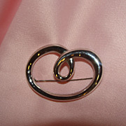 Could be a C or a Squiggle Monet Pin - Free shipping