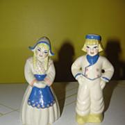 Ceramic Arts Dutch Couple Salt and Pepper Shakers - b127