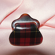 Scotch Plaid Handbag Pin - Free shipping