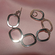 Rounded Rectangles Silver Bracelet - Free shipping
