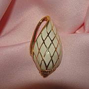 Trifari Sea shell Enamel Pin  - Free shipping