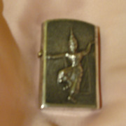 Thai Dancer Siam Silver Lighter
