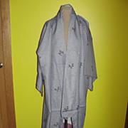 Blue Gray Lavender Full Length Kimono