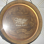 Miller High Life Beer Sign Light - 3D Barrel
