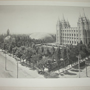 The Mormon Temple - Photogravure
