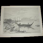 Alaska Seal Fisheries Etching by James Fagan