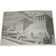 Great Altar of Pergamum Restored Photograure from oil by Robert L Dodge