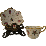 Royal Stuart Spencer Stevenson 589 Rose and Star Tea cup and Saucer - b142