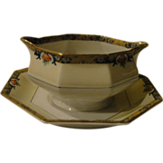 Theodore Haviland Chenonceaux Limoges Gravy Bowl with Attached Liner - b143