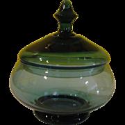 Blue Apothecary Jar Candy Dish - b147