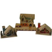 SOLD Houses and Mansion Snow Village Houses - b145