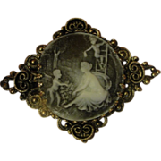 Angel Babies Cameo Pin - Pin Shipping