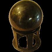 Brass Orb on Stand - b154