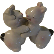Bunny Love White Bunnies Van Tellingen Salt and Pepper Shakers - b150