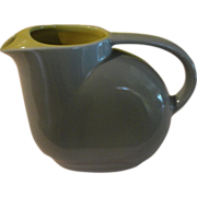 Hall china G E Refrigerator Gray and Yellow Water Jug/pitcher - b153