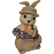 Fitz and Floyd Hat Party Bunny Sugar Bowl - b152