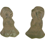 Viking Glass Angel Boy and Girl Bookends - b151