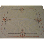 Cross Stitch Flower Bridge Tablecloth - L2