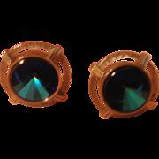 Swank Blue Stone Cufflinks - free shipping