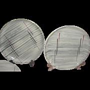 Mid-century Prim Rose China Gray Background 7 5/8'' Salad Plates - b158