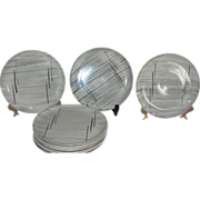 Mid-century Prim Rose China Gray Background 6 1/4'' Bread and Butter  Plates - b158