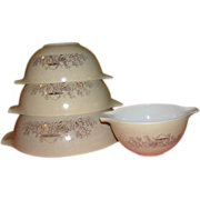 Pyrex Forest Fancies Mushroom Cinderella Bowl Set - g