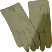 White Leather Miss Aris Wrist Gloves - Free Shipping - b163