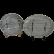 Mid-century Prim Rose China Gray Background Platter and Veggie Bowl - b162