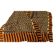 Givenchy Navy and Orange Scarf - b170 - Free shipping