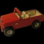 Red Jeepster Tonka truck - b171
