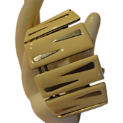 Ivory Enamel Cuff Bracelet - free shipping