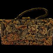 Snap top, Over the Wrist Tapestry Handbag - b171