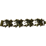 Flowers Around Sterling Bracelet - Free shipping