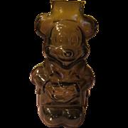 Walt Disney productions Mickey Mouse Glass Bank - b54