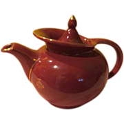 Hall Maroon windshield Tea Pot - b54