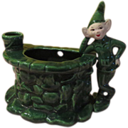 Treasure Craft Elf At Well Wallpocket/planter - b54
