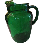 Anchor Hocking Forest Green Pitcher - g