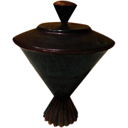 Tapered on Tiny Base Covered Compote - b60