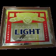 SOLD Budweiser Light Beer Mirror