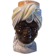 Royal copley Blackamoor Head vase/wall pocket - b61