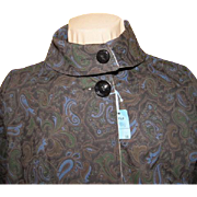 SOLD Paisley Print to Solid Reversible 2 - in -1 Raincoat