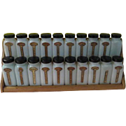 A to T Griffith's Purified 20 Jar Wood Spice Rack - b65