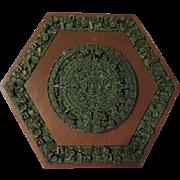Stone on wood Arte-Mex Industrias Y Artesanias Mayan Calender - b63